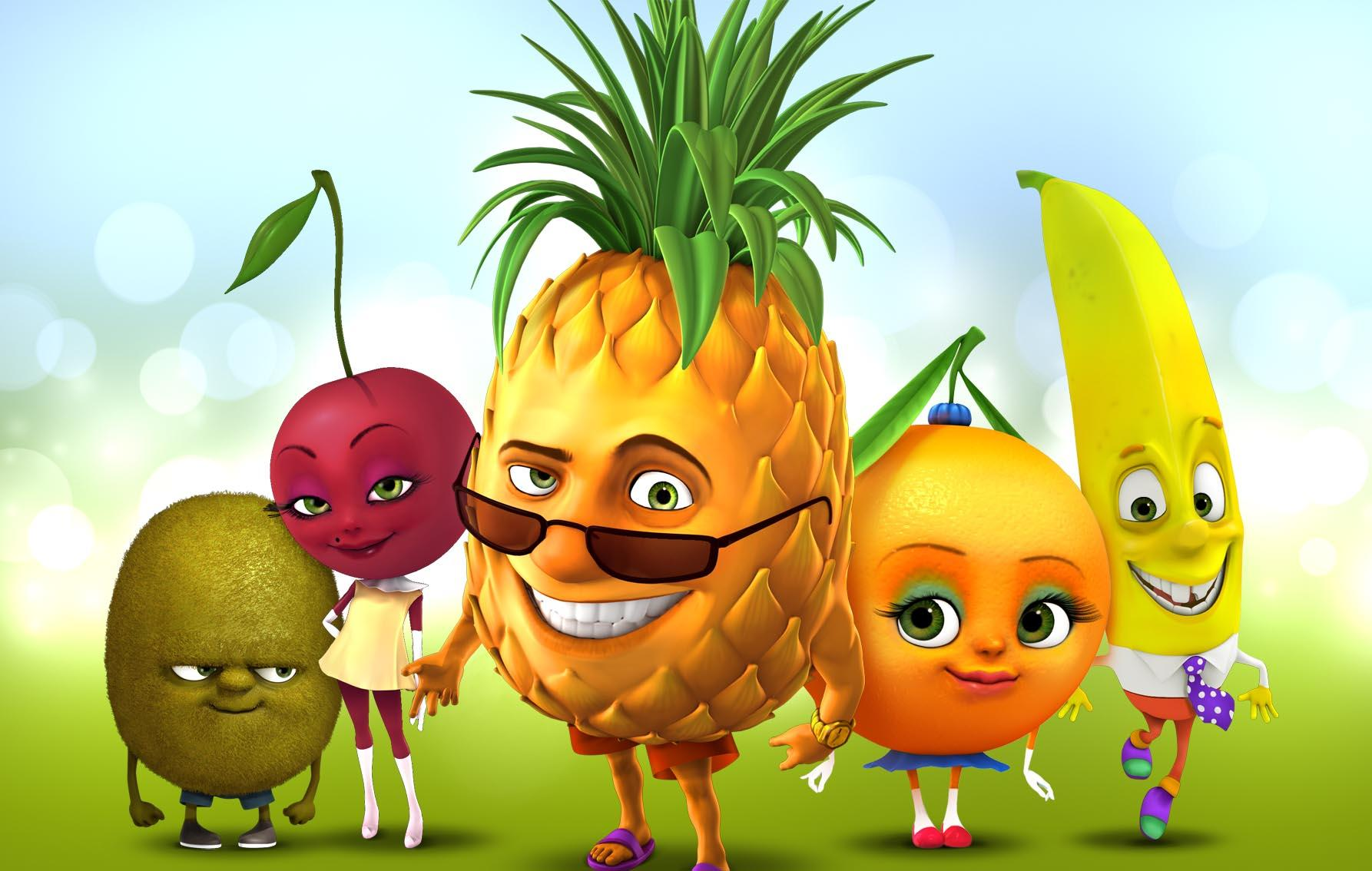 Смешные картинки с фруктами для детей